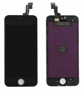 Дисплей для iPhone 5s с тачскрином, чер.