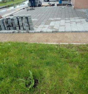 Уклада тротуарной плитки и асфальта