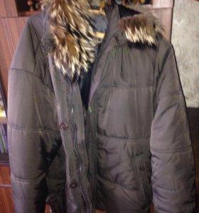 Зимняя куртка, мужская, теплая, размер 48-50