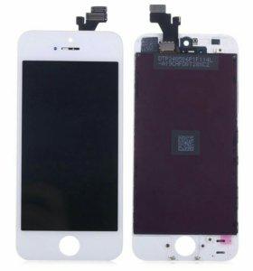 Дисплей для iPhone 5 с тачскрином, бел.