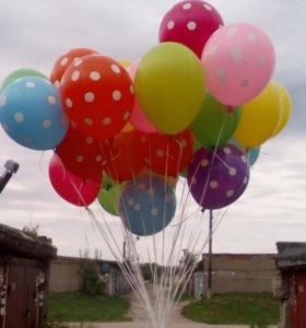 Гелиевые, светящиеся шары.