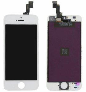 Дисплей для iPhone 5s с тачскрином, бел.