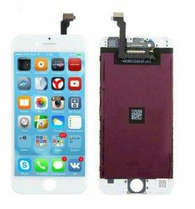 Дисплей для iPhone 6 с тачскрином, бел.