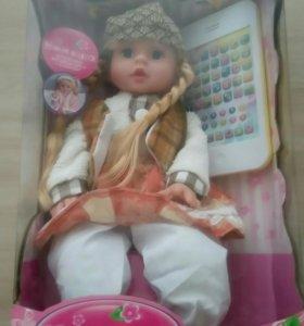 Кукла интерактивная обучающая с планшетом