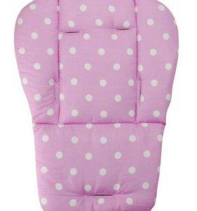 Матрасик, вкладыш в коляску, стульчик Розовый