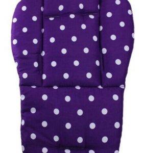 Матрасик, вкладыш в коляску, стульчик Фиолетовый