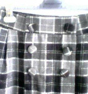 Новая юбка 44 п/шерсть