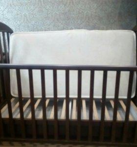 Кровать-качалка papaloni + матрац