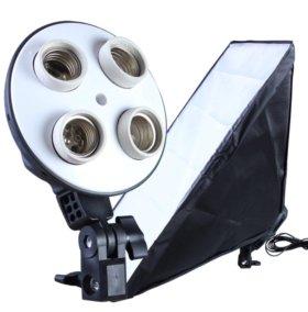 Постоянный свет для фото/видео | 2 софтбокса