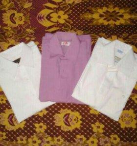 Рубашки школьные б/у 128 размер