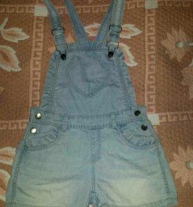 Комбинезон джинсовый. Рост 136-140. На 10- 13 лет