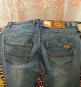 Мужские джинсы 50 размер летние, классные 34,33,31