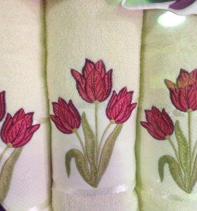 📌 полотенце махровое банное лицевое набор
