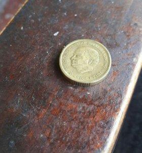 Монета 10 крон 2000 года