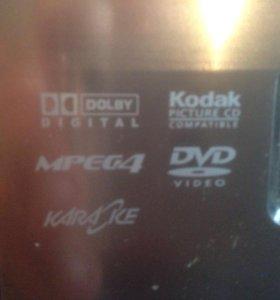 Мини центр DVD+Karaoke+USB+FM radio