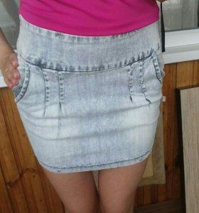 Новая джинсовая юбка xxs