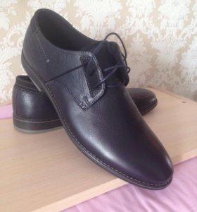 Новые кожаные мужские туфли, 45