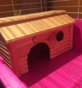 Клетка для грызунов с домиком