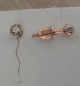 Новые серьги с бриллиантами