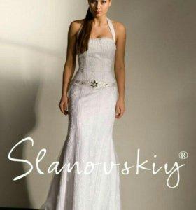 Свадебное платье + шляпка