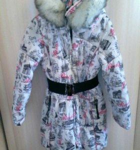 Зимняя куртка для девочки 146-152