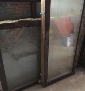 Окна деревянные стеклопакеты.  Б/У