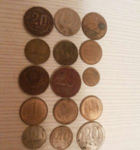 Монеты разных стран. Отдам все монеты за 1500