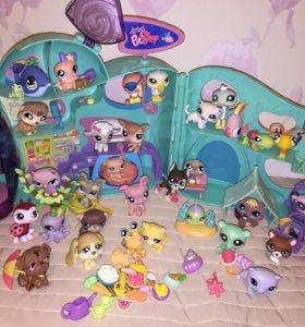 Домики и игрушки petshop