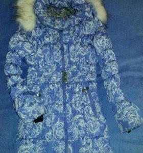Зимняя куртка б/у для беременных.