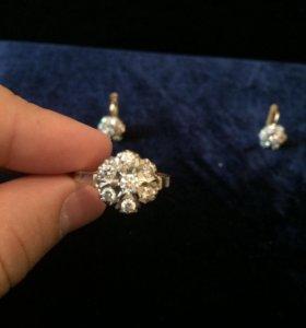 Ювелирное изделие, кольцо и серьги