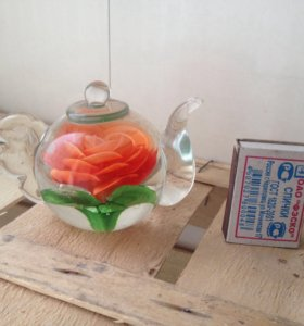 Фигурка чайник с цветком