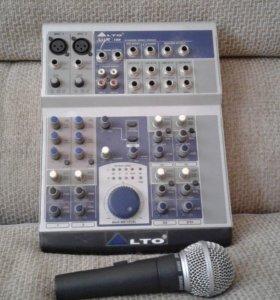 Микшер LTO и микрофон Shure sm 80