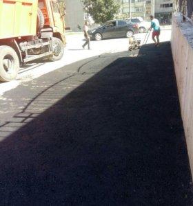 Асфальтирование укладка тротуарной плитки бетон