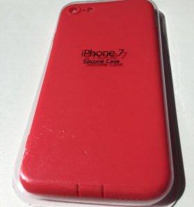 iPhone 7 Красный чехол силиконовый