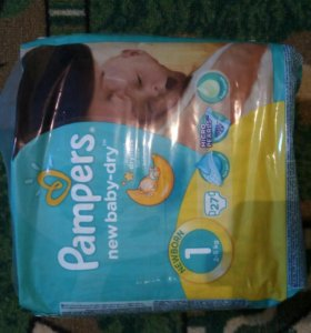 Подгузники Pampers new baby dry 1