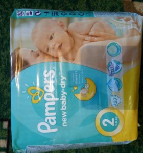 Подгузники pampers new baby dry 2