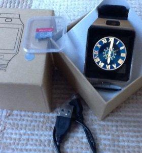 Часы Smart watch DZ09 +microSD 8гб