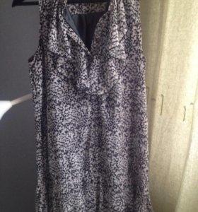 Шифоновое платье 46 размер