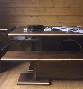 Стол, стулья и лавки