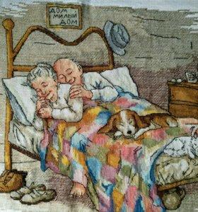 Вышивка крестиком пожилая пара