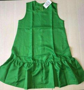 S р-р Новое женское платье-колокольчик зеленое