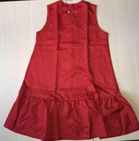 S р-р Новое женское платье-колокольчик красное
