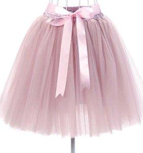 Юбка-пачка нежно-розовая