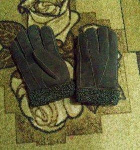 Перчатки мужские дубленчатые