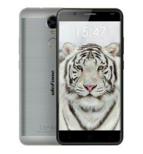 Новый Ulefone Tiger серебристого цвета