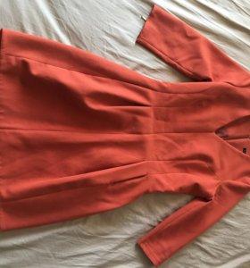 Платье красное тёплое