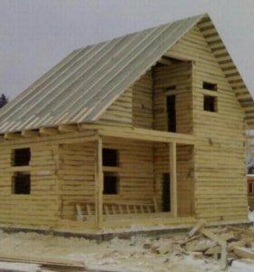 Строительные работы деревянных домов и бань