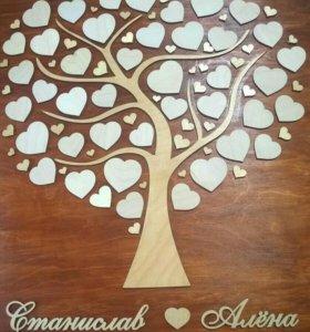 Дерево пожеланий. Панно пожеланий на свадьбу