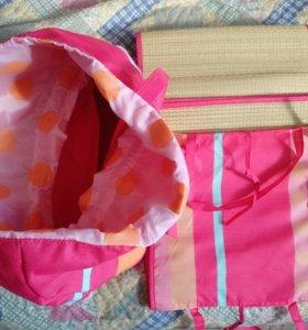 Пляжные сумка, лежак