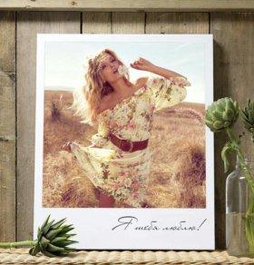 Портрет на холсте в стиле Polaroid